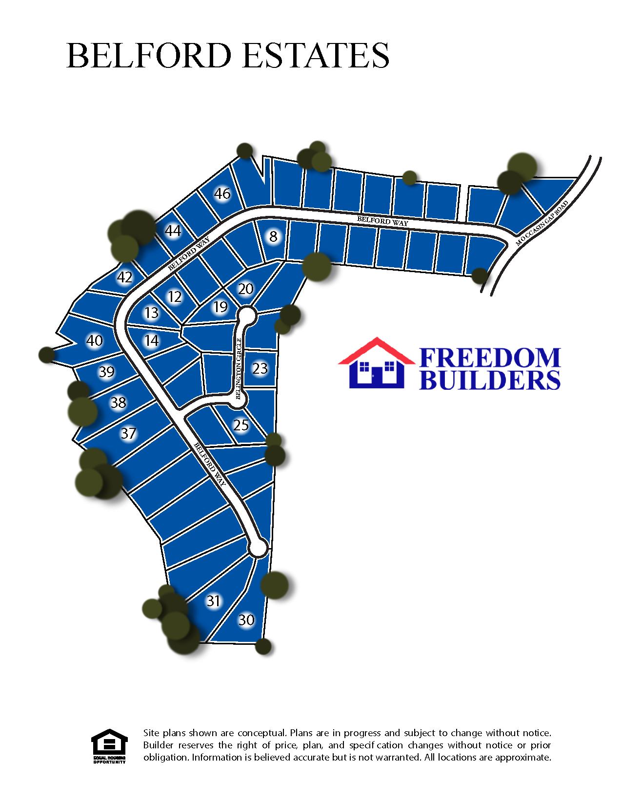 Belford Estates Site Map