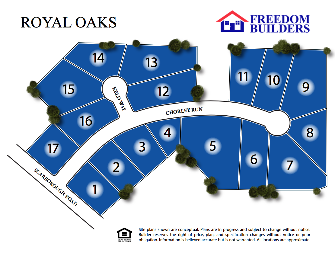 Royal Oaks Site Map