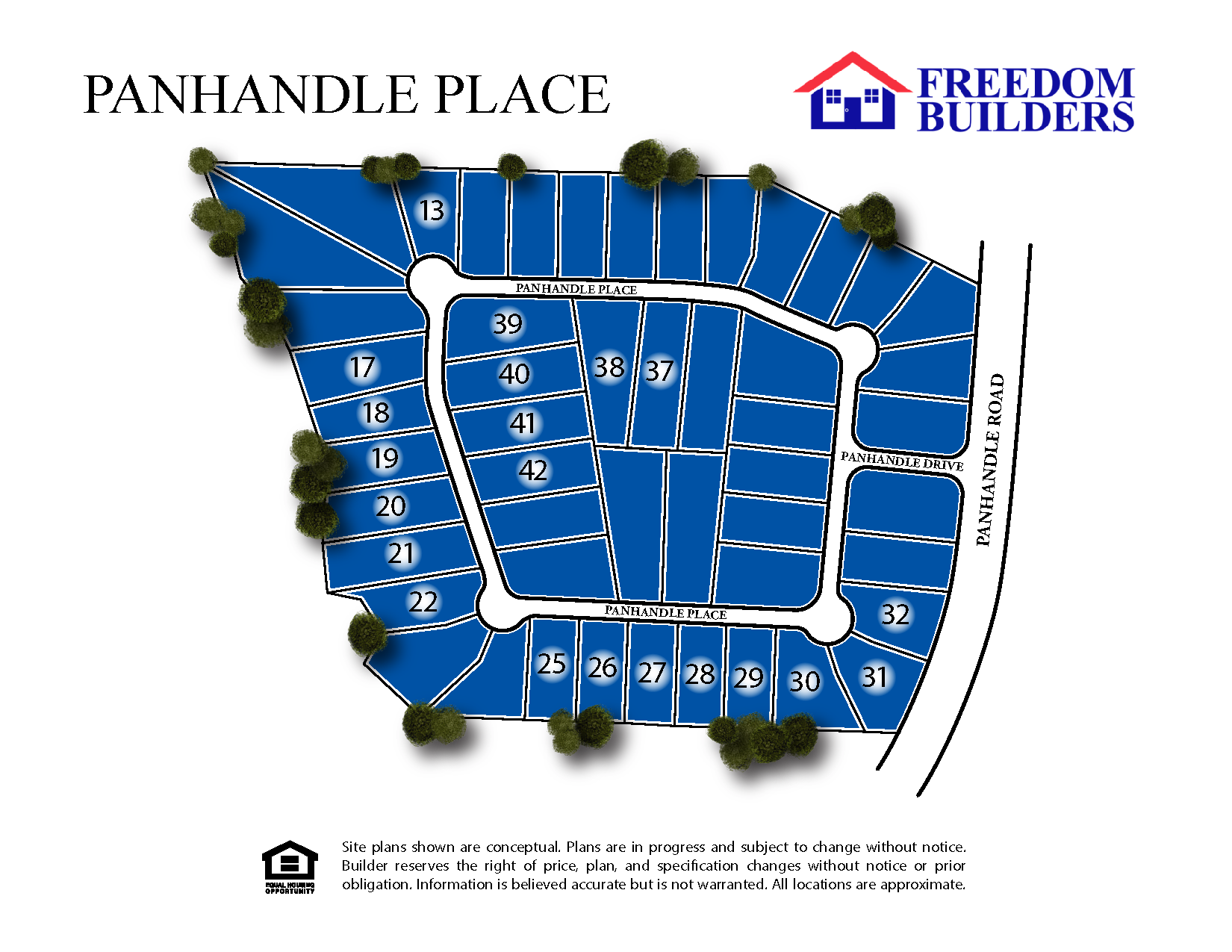 Panhandle Place Site Map