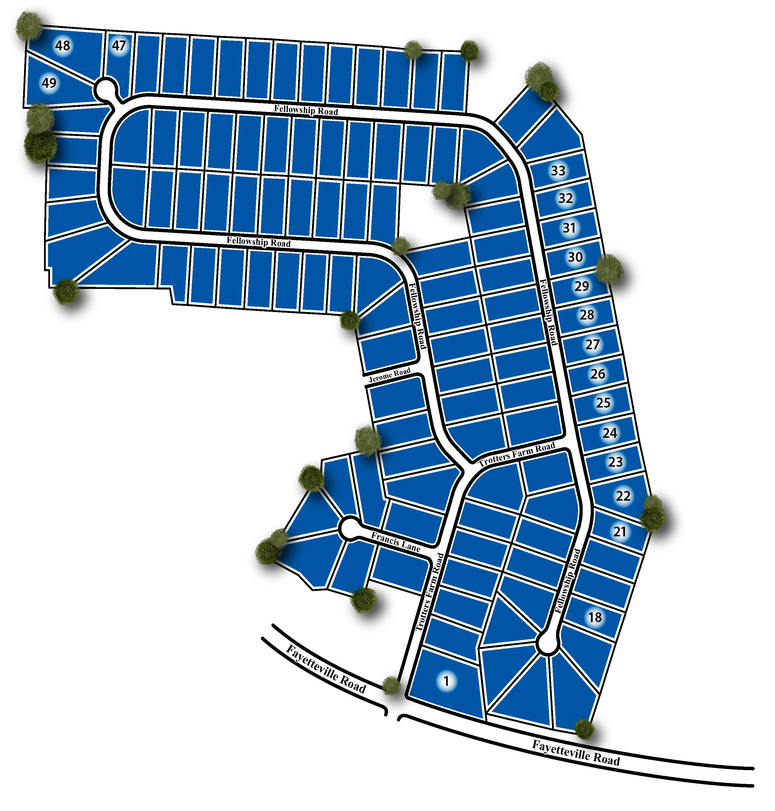 Trotter's Farm Site Map